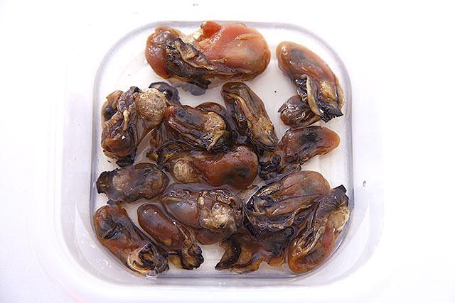干し牡蠣の酒浸し。
