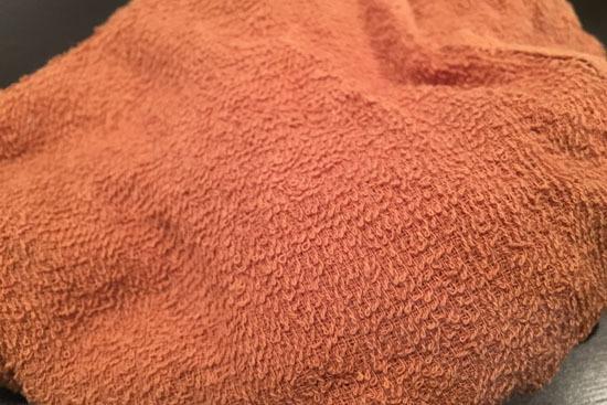 そんな牡蠣フライを再現するためのタオルが、ぐうぜん買い置きしてありましたんですよ