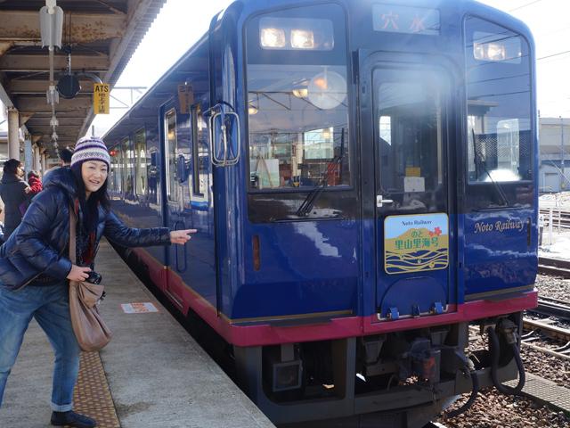 予想以上にピカピカの列車にうれしい悲鳴。