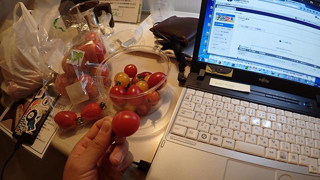 僕はこの日、ホテルに着いてもトマトを食べて過ごしました。