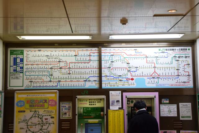 蒲田の料金路線図