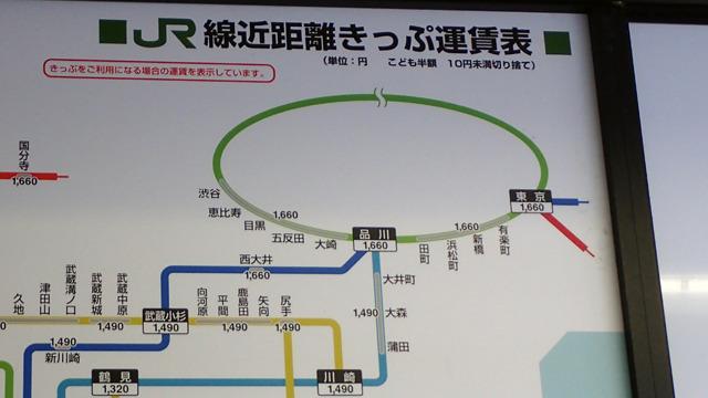 乗り換え駅が消えて1660円区間の駅が出てきた