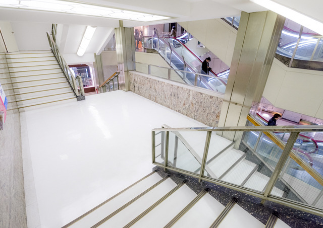 しかも2つの階段を向かい合わせたこの形式。粋だ。気に入った。