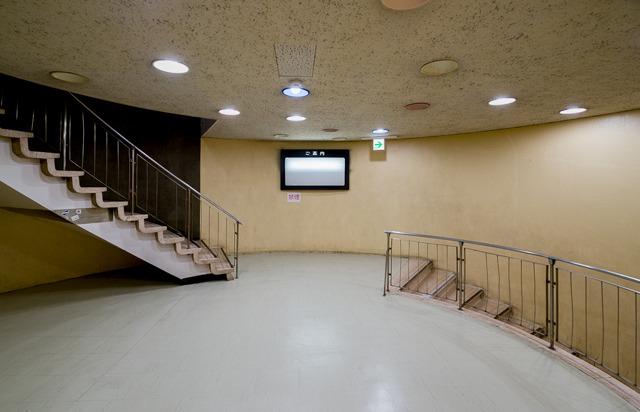 名物、螺旋状の階段。
