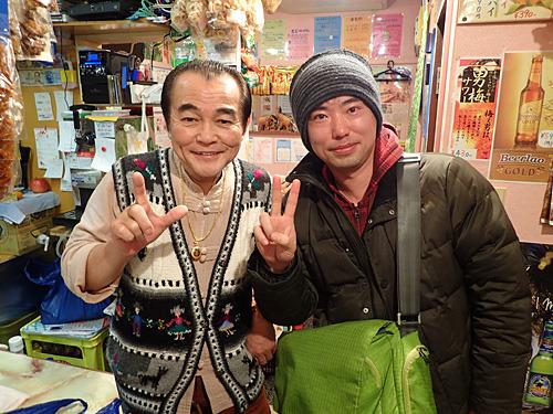 安田さんの意見ではポール牧、私はゼンジ―北京に似ていると思った素敵なオーナーと記念写真。