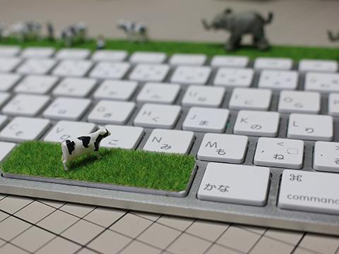 一頭だけスペースキーに取り残され、ただ象に襲われる仲間を見守るしかない牛。