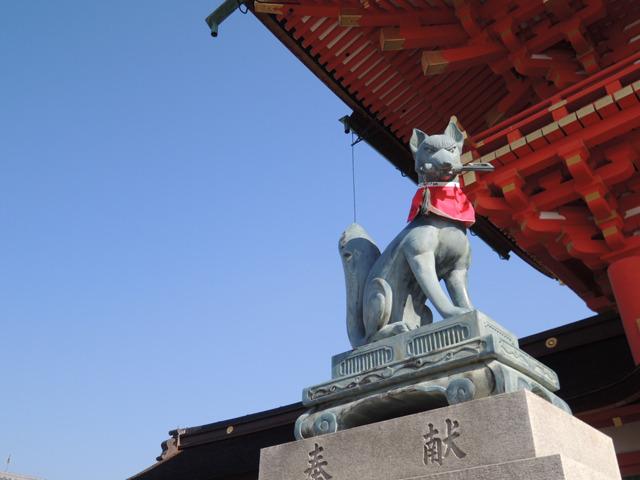そもそも伏見稲荷自体、狛犬でなく狐だ。あまりに有名すぎて忘れていた