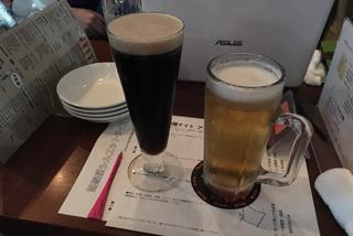 ちなみに。生ビールと黒ビールを頼むと