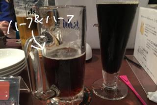 とちゅう、好きなタイミングでハーフ&ハーフのビールが自作できる!