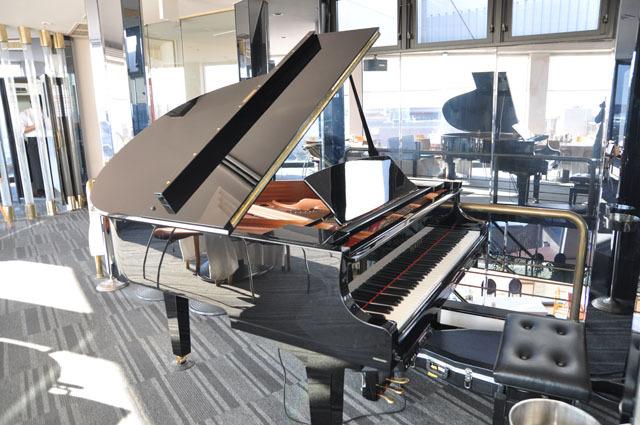 中央には自動演奏装置付きのグランドピアノが置かれていた