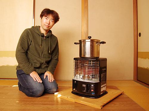 暖房であり調理器具なんですよ。