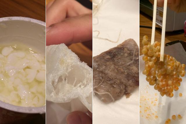 ヨーグルト、スライス餅、まぐろ刺身、いくら醤油漬けをレンチンしました