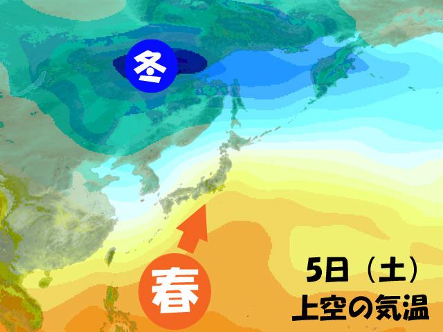 今週後半は、南から春の空気がグイグイと。冬終了宣言だ!