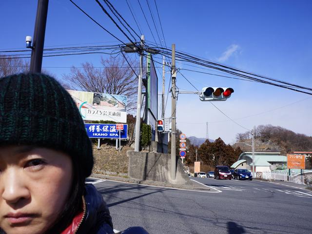自撮りしたところで比較にならないんだなこれが(でもこの写真だと信号機が単独でもでかく見える気はするが)。