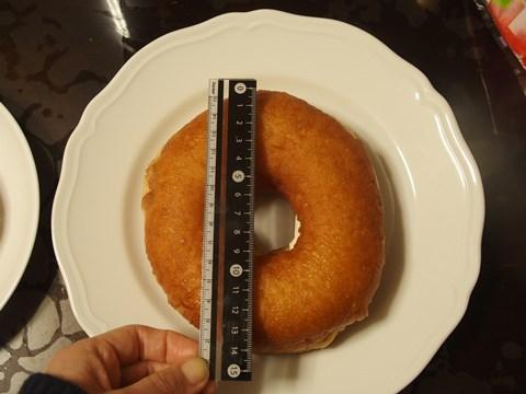 大森生ドーナツ、約14cm