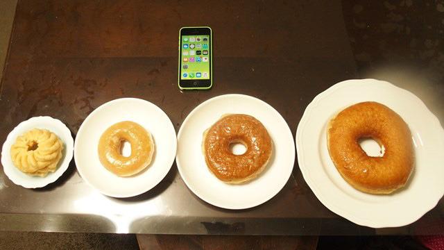 進化の過程を見るかのようなドーナツたち。
