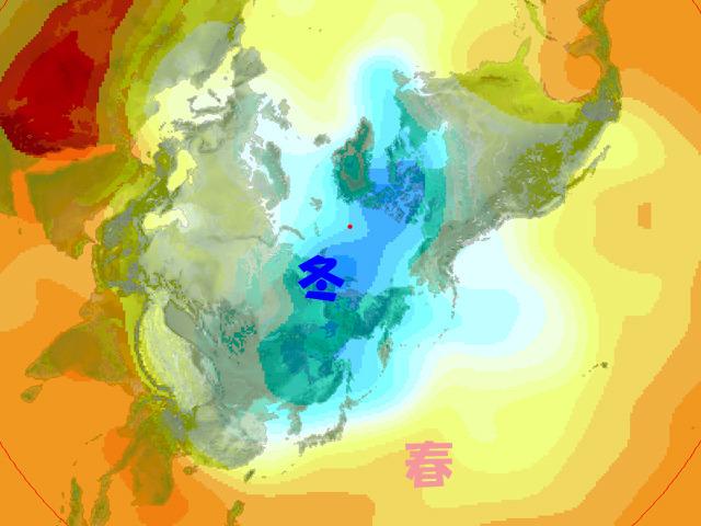 暖かい春の暖かい空気に包囲されつつある冬の寒気。今週後半に意地をみせる。