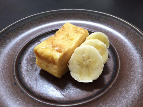 玉子焼きバナナ添え。