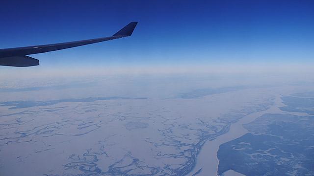 ただ私は冬のこの時期に飛行機に乗り、