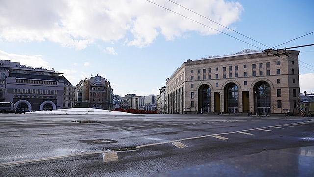 現在の「ジェルジンスキー広場」(現在はルビャンスカヤ広場)