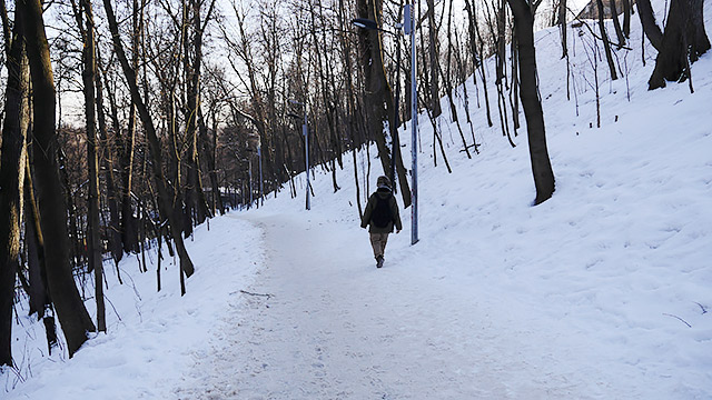 冬季はリフトが動かないらしいので、結局、歩いて降りたけど