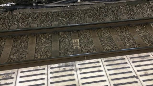 線路に書いてある文字や数字は線路のカーブの開始終了や距離のお知らせだった。詳しい人にきちんと教えてもらい疑問が解けるとすっきりしますよね。(橋田)