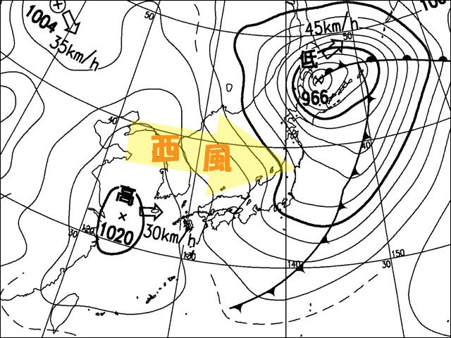 2010年3月21日、午後。気象庁天気図
