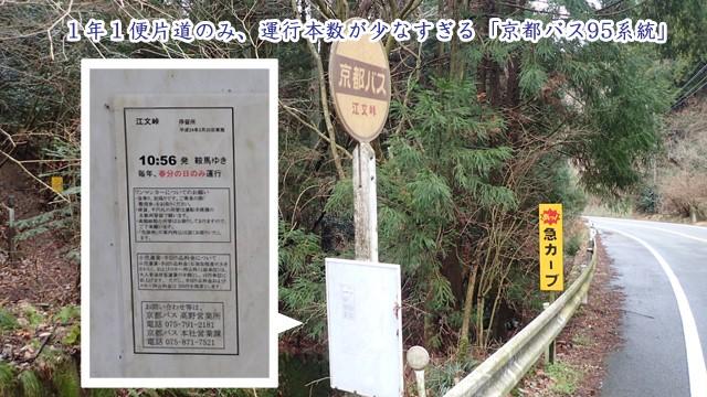 春分の日だけ運行するバス、京都バス95系統