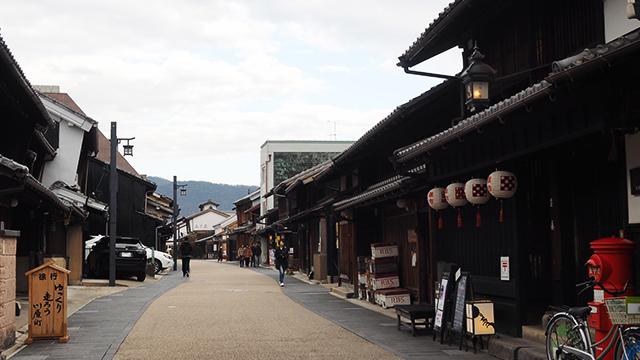江戸時代の風情ある町並みが残っている。こんな素敵な場所があったとは!