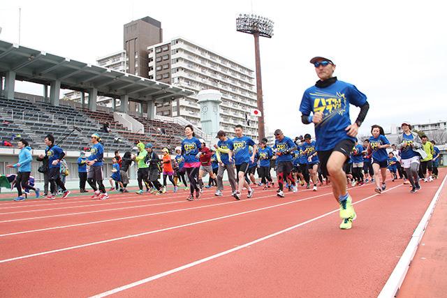 10キロマラソンには80人くらいのみなさんが参加してくれました。