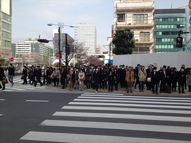 日本人、よく歩くネ~!