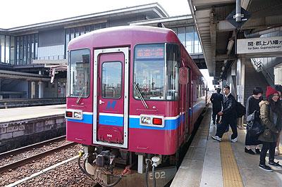 美濃太田駅で、長良川鉄道に乗り換える