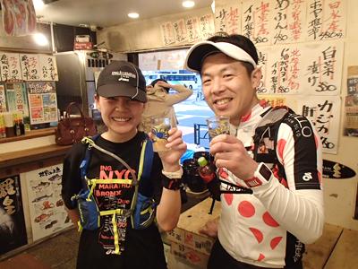 加賀美さんと関谷さん。どちらも日本酒系変態ランナー。