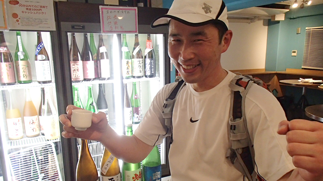 エイドで日本酒を飲むマラソンを勝手に開催してみました。普通に走れたし楽しかった。