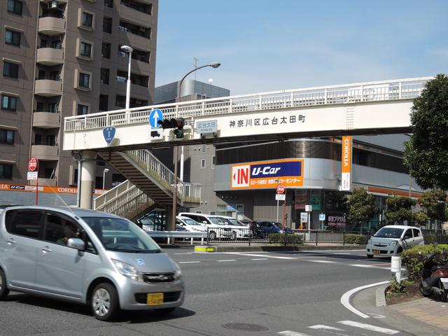 そして国道1号と交差する広台太田町の交差点を東白楽方面へ