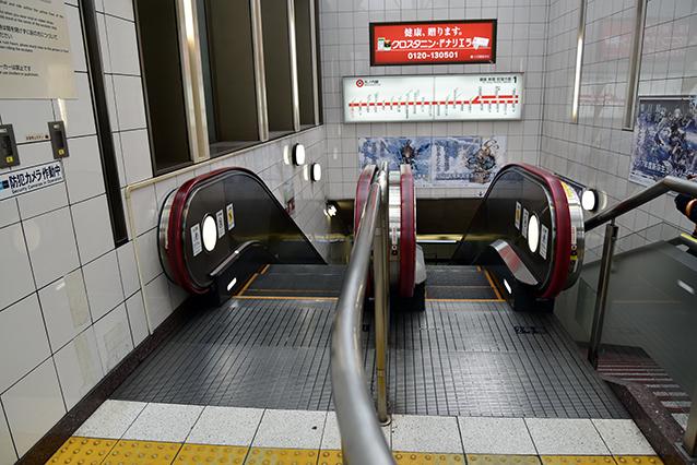 こちらは丸の内線「本郷三丁目駅」にて遭遇。左が2人用、右が1人用