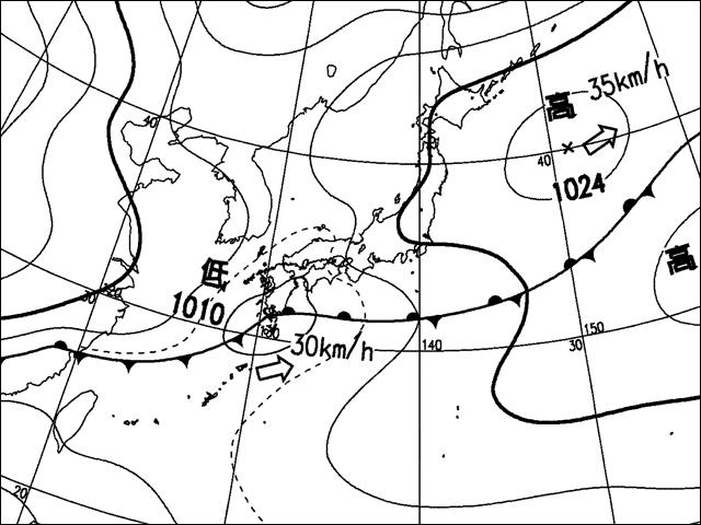 2006年5月13日。気象庁天気図