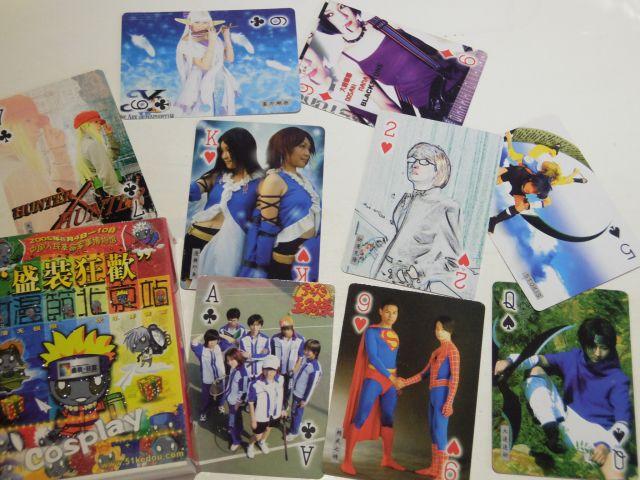 2005年当時のコスプレイベントの写真トランプ。今と比べて日本のゲームも多い!