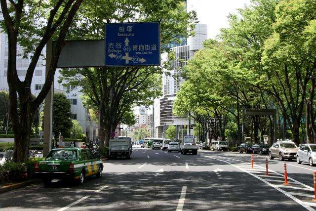 新宿新都心へ一直線、「水道道路...