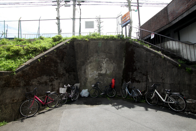どうも怪しいので北側に回ってみると、コンクリートでふさがれたトンネルがあった