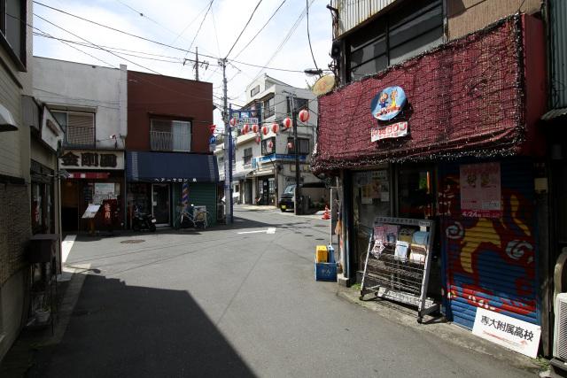 しばらく進むと活気ある商店街に出た。路地はクランク状に折れ曲がる