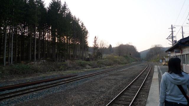 長く列車に乗っていると、どうしてもトラブルに巻き込まれる。写真は、落石のため運行打ち切りになって降ろされた、岩手県の山田線・区界駅。何が辛いって、日を改めて再びこの駅まで来ないといけないのだ(泣きながら再訪した)。忍耐力は必須!