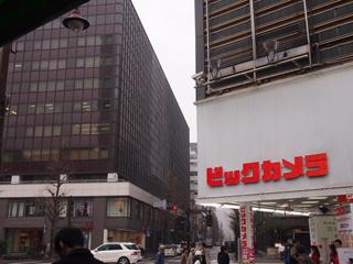 JR有楽町駅の日比谷口を出るとすぐ目の前にある。