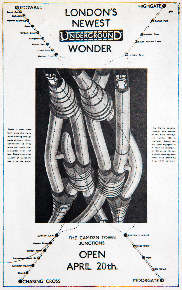 1916年・「ロンドン最新地下鉄の驚異」(『テクノスケープ―都市基盤の技術とデザイン』(鹿島出版会 1995年)に収録)