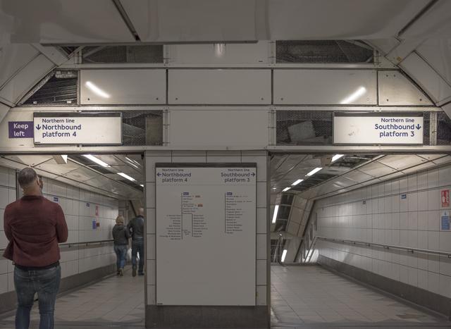 この駅では「北行き」「南行き」。