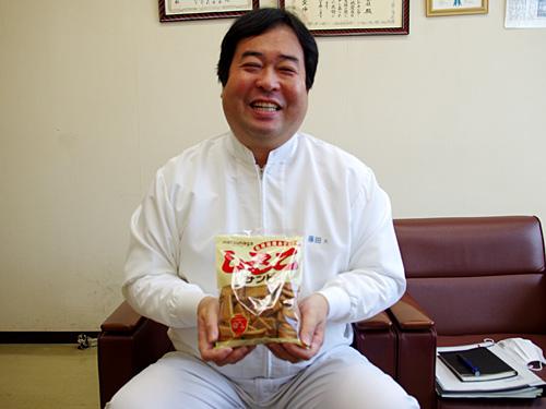 お話を伺った藤田大輔さん。アンケートの結果を見せると「ありがたいですねー。ありがたい。ありがたい限りです!」とニコニコ。