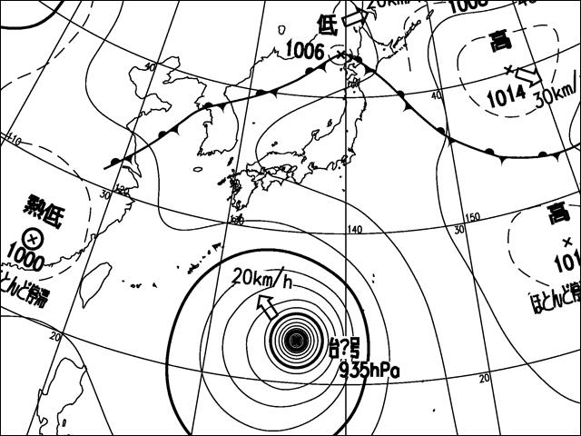 2011年7月17日。気象庁天気図