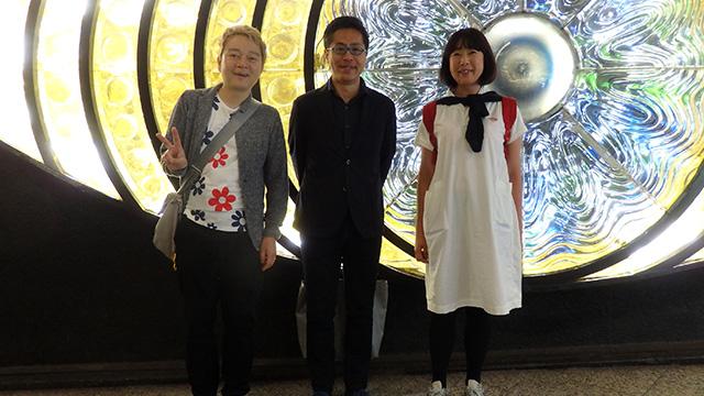 左から、林、田村くん、田村くんの本を編集した石塚さん(SBクリエイティブ)。 全員同じ学校の同級生。