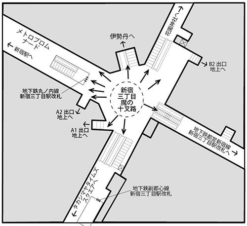 こんなに分かれている(「新宿駅はなぜ1日364万人をさばけるのか」より引用)