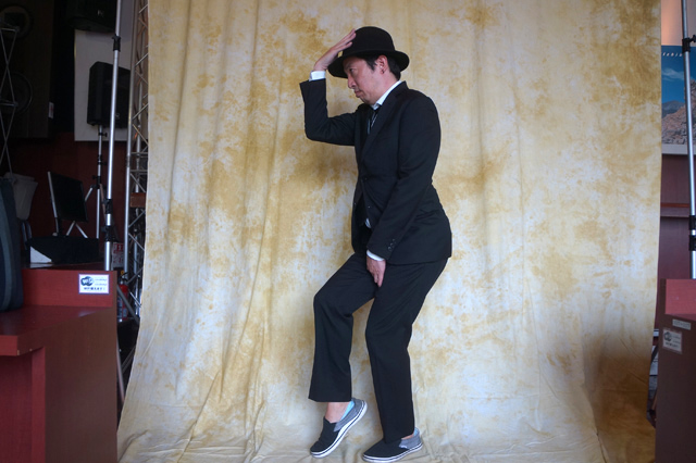 その間にダンスの練習に余念のない人。今日のためにDVD見まくったそうだ。